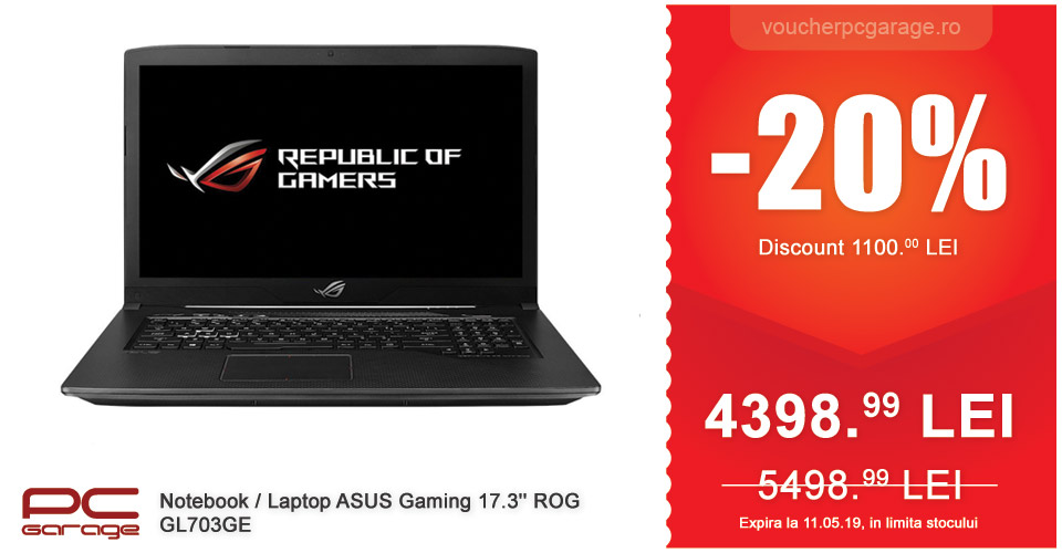 Laptop ASUS Gaming 17.3'' ROG GL703GE