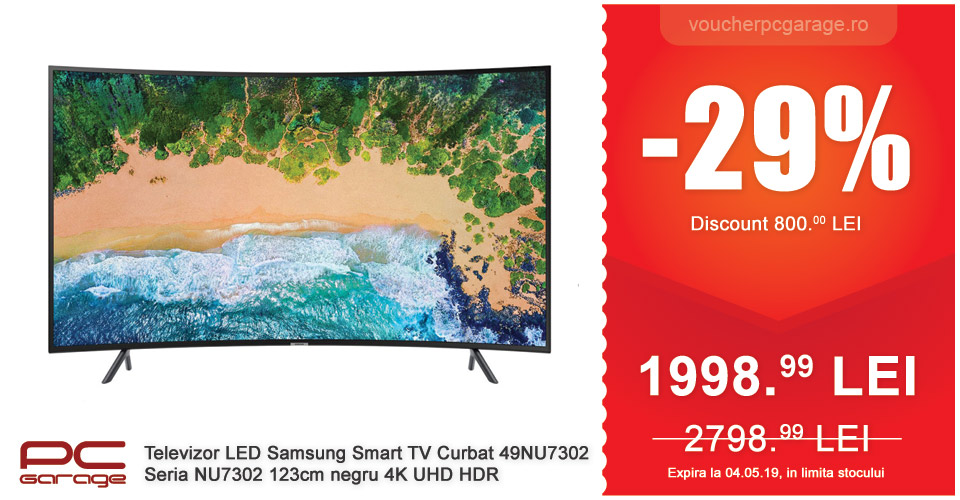 Televizor LED Samsung Smart TV Curbat 49NU7302