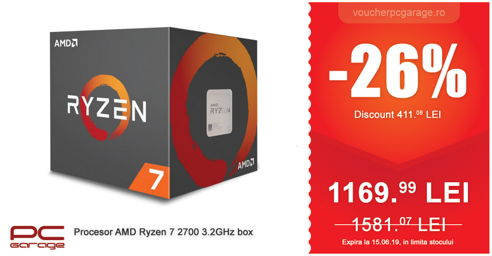 Procesor AMD Ryzen 7 2700 3.2GHz box