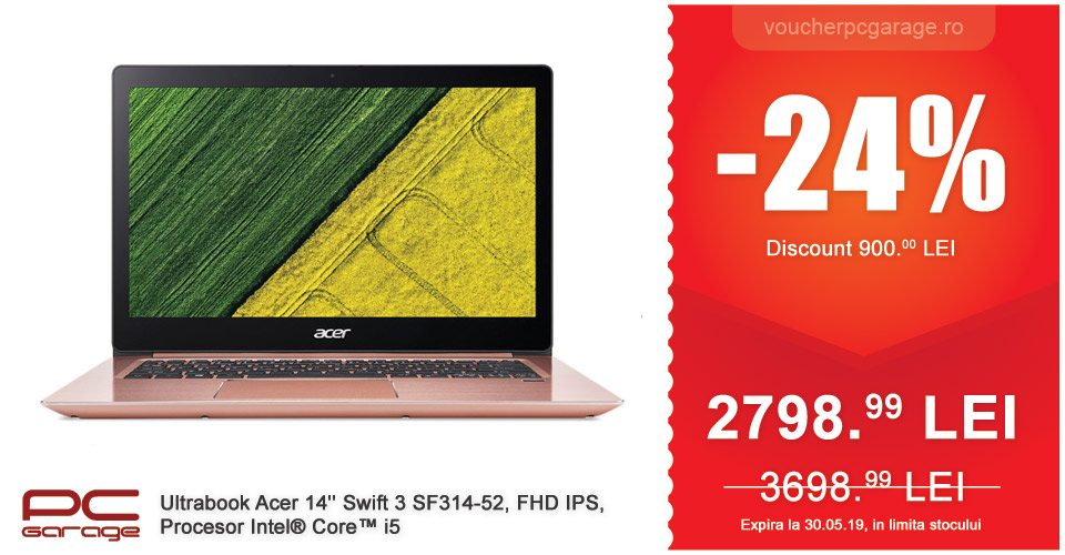 Ultrabook Acer 14'' Swift 3 SF314-52, FHD IPS, Procesor Intel Core i5