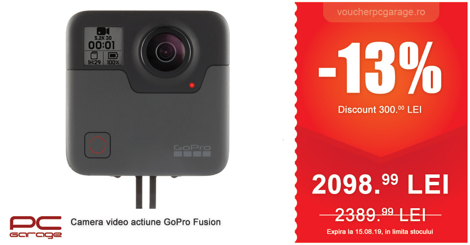 camera video actiune gopro fusion
