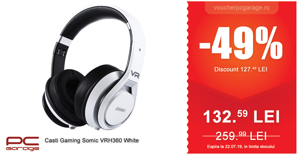 casti gaming somic VRH360 white